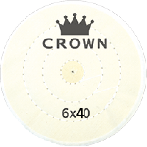 Beyaz Dikişli Cila Bezi Crown 6x40
