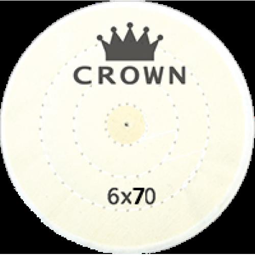 Beyaz Dikişli Cila Bezi Crown 6x70
