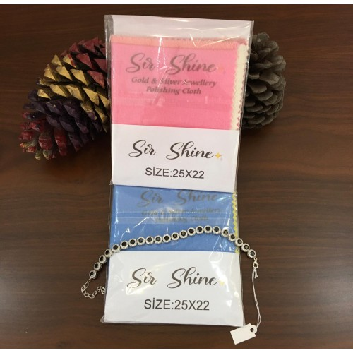 Sir Shine® Altın ve Gümüş Parlatma Bezi Çift Katlı 25x22cm
