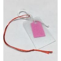 İpli Etiket Şeffaf Plastik Yıkanabilir 20x35mm