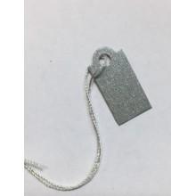 İpli Etiket Silver Kraft 10x20mm