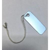 İpli Etiket Gümüş 10x30mm